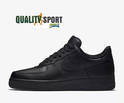 newest faa70 0016c Nike Air Force 1  07 Nero Scarpe Shoes Uomo Sportive Sneakers 315122 001  2019