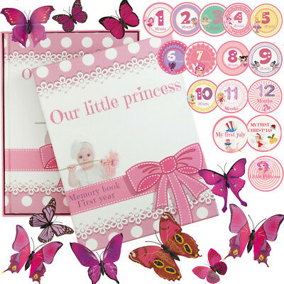 First Year Baby Girl Memory Book For Memories & Milestones