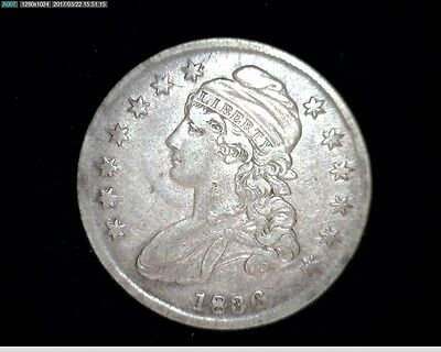 1836 Silver Capped Bust Half Dollar #8254