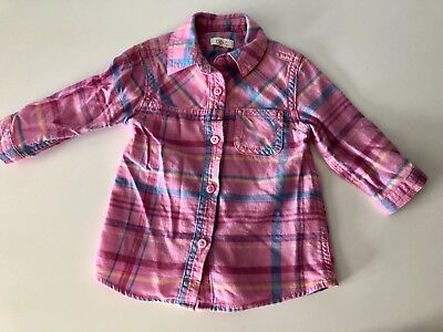 Next Baby Girls Funky Pink Check Shirt - Aged 3-6 Months