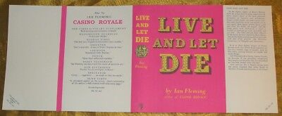 Ian Fleming - Live And Let Die - Facsimile Dustjacket Only - 1954 - 1St/1St