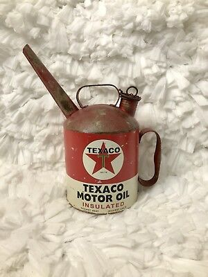 TEXACO Motor Oil Can With Spout Open Road Brands