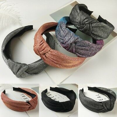 Women Fabric Alice Band Haarband Headband Twist Hairband Bow Knot Cross Headwrap