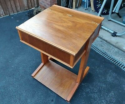 Vintage Genuine School Desk Great Condition retro