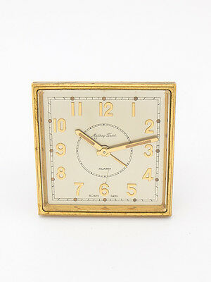 Rare Mathey-Tissot table Clock with 8 day movement and alarm, art deco, 1950´s
