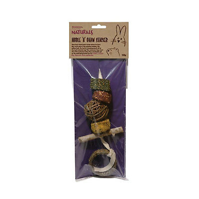 Rosewood Nibble n Gnaw Stacker for Small Pets Herbal Willow Parsley Wood Chew