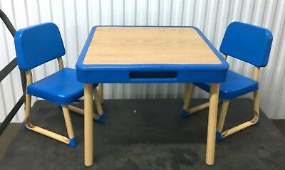 VTG Fisher Price Arts and Crafts Table & Chairs Set CHILD SIZE 1985