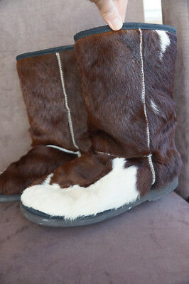 Real Fur & Wool Warm Winter Boots Size 9