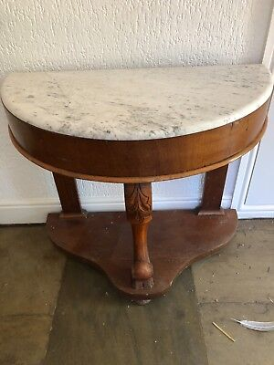 Victorian Marble Topped Basin Stand - decorative legs, pale marble top