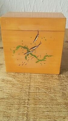 Chinese /Japanese hand painted wooden box