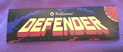 Defender arcade marquee sticker. 3 x 9.5. (Buy 3 stickers, GET ONE FREE!)