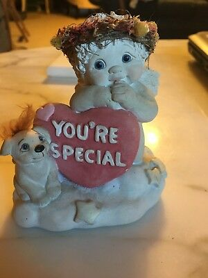 1997 Dreamsicle Figurine Baby Angel Cherub with Heart Your Special 10275 Signed