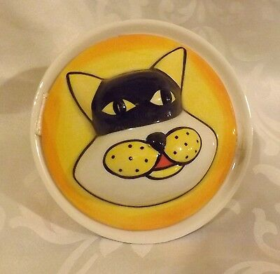 Rare Lorna Bailey Lidded Pot of Cat  WHISKEY  Signed in Black