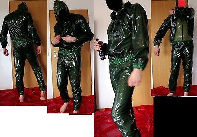 SMOKY TRANS Libidex Latex Translucent Tracksuit Catsuit TrainingsSuit Gr.M >350€