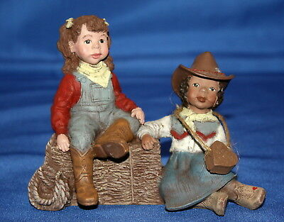 Sarah's Attic Saturday Night Roundup Cowgirls Peggy Sue & Cindy Lou 1994 Figure