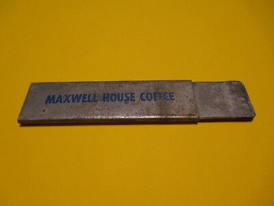 Vintage Maxwell House Instant Coffee Box Cutter / Razor Knife Advertising NICE