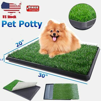 Pet Potty Trainer Grass Mat Dog Puppy Training Pee Patch Pad In&Outdoor Toilet Y