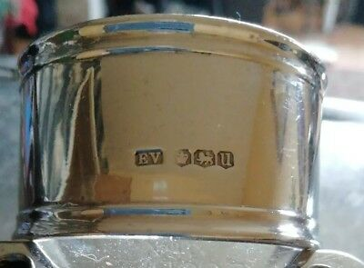 Sheffield solid silver napkin ring 1937 and weighs in at an impressive 38 grams