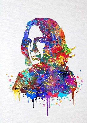 Harry Potter Severus Snape Alan Rickman Watercolour Wall Art Poster Print