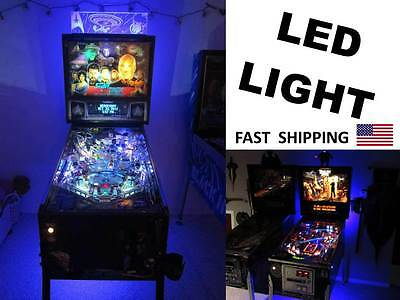 pinball machine LED light - color choices are red blue green HID white