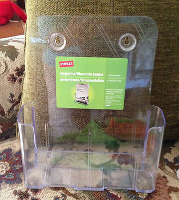 "Staples Magazine/Literature Holder: 10 3/4"" x 9 1/4 x 3/34"": 16659"