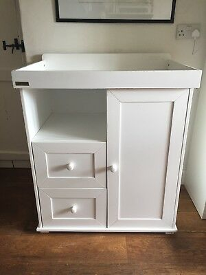 East Coast by Mothercare White Wood Baby Changing Chest of Drawers with Wardrobe