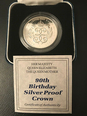 90th Birthday Silver Proof Crown with COA  *****FREE SHIPPING*****