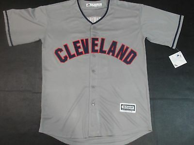 b5c8ee8cb New Jose Ramirez  11 Cleveland Indians Cool Base Mens Player Jersey Gray