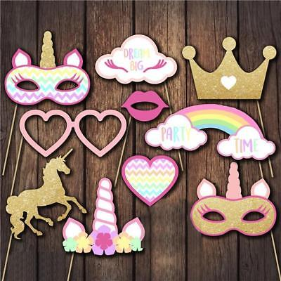 Unicorn Birthday Party Fun Photo Booth Selfie Props Accessories/Decoration LH