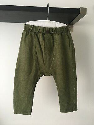 New Zara Baby Boy Olive Green Harem Bottoms, Size 12-18 Months, RRP £18.99