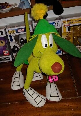 Vintage 97' Looney Tunes Marvin the Martian K-9 Space Dog Plush Posable Toy nwt