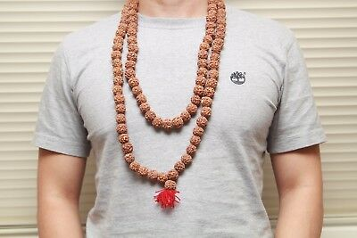 Rudraksha Japa Mala Beads Hinduism Prayer Meditation Yoga 108+1 Nepal.