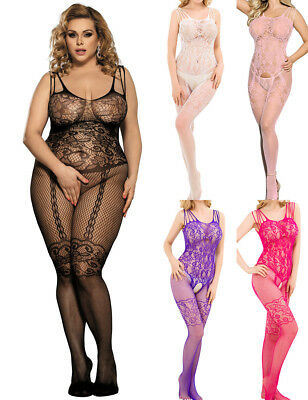 Netz-Bodystocking Netz-Catsuit Ouvert Body von Provocative Sexy Damen Dessous