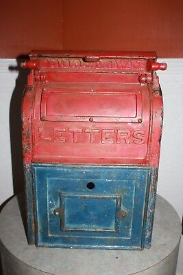Antique 1924 Cast Iron U.S. Mail Box Danville Stove MFG Letters Post Office