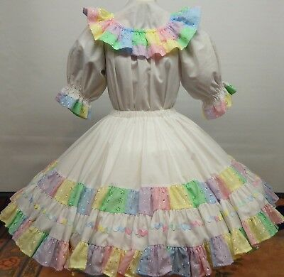 2 Piece Cross Eyed Cricket Patchwork Square Dance Dress