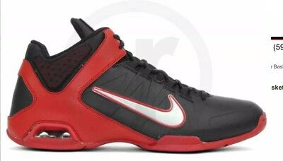 64b10ca9216 ... Nike Air Visi Pro 4 Men s 8 Basketball Shoes Black Red 599556-003 first  ...