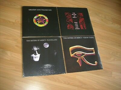 SISTERS OF MERCY 4xVinyl LP OVP/ungespielt GREATEST,FLOODLAND,FIRST LAST,VISION