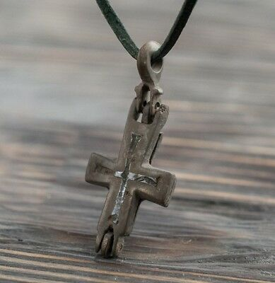 Medieval Reliquary (Double Cross) Encolpion 10th-11th Century AD Ancient Pendant