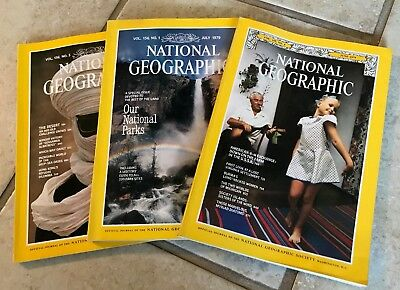 National Geographic Magazines 1979 (5 Issues) Jan April June July Nov