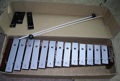 metal xylophone with extra metal notes and hammers