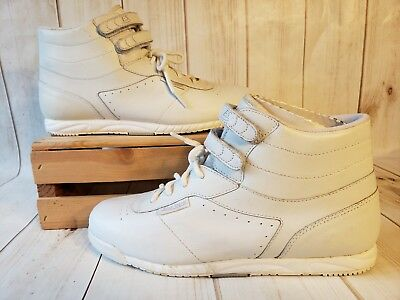 Vintage Easy Spirit Aerobics High Top Strap Leather Sneakers Women Size 8M