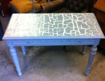 Lovely Decorative Vintage Grey Painted Carved Mahogany Hall or Side Table