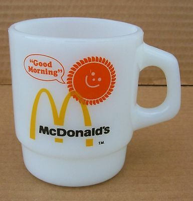 Vintage McDonalds Anchor Hocking Fire King coffee mug cup Milk glass