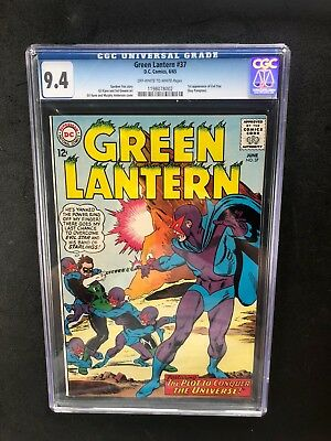 Green Lantern 37 !! Cgc 9.4 !! 1St Evil Star!! Awesome Cover!! Htf
