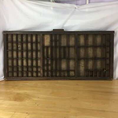 Vintage Printers Wood Letterpress Type Tray / Case / Drawer Metal Corners