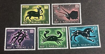 5 top old stamps zodiacs 1969 / San Marino