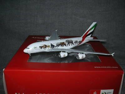 Airbus A380 Emirates A6-EEQ United for Wildlife JC Wings Inflight Gemini 1-400