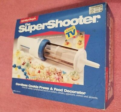 Hamilton Beach Super Shooter Cordless Cookie Press & Food Decorator (Used Once)