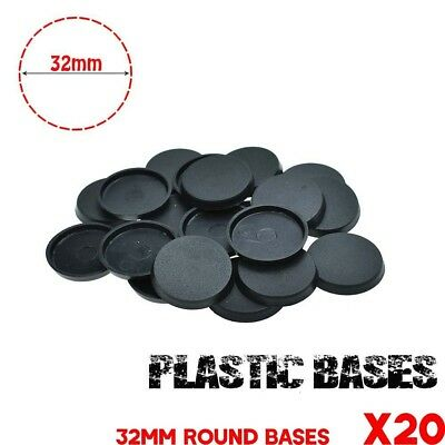 Lot-of-20Pcs-32mm-Round base-For-gaming-miniature & table game FREE SHIPPING