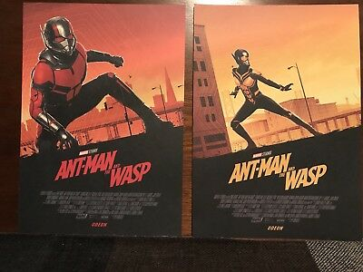 Ant-Man And The Wasp Marvel Odeon Exclusive A4 Posters Set Of 2 Free P&P